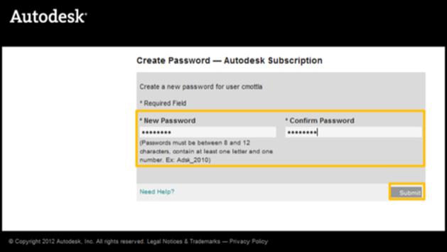 Create Password