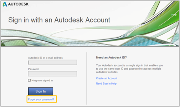 Sign in with an Autodesk Account