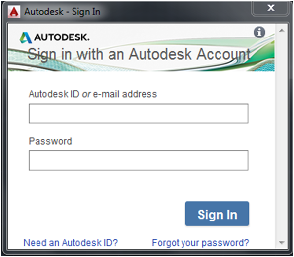 Autodesk Sign in