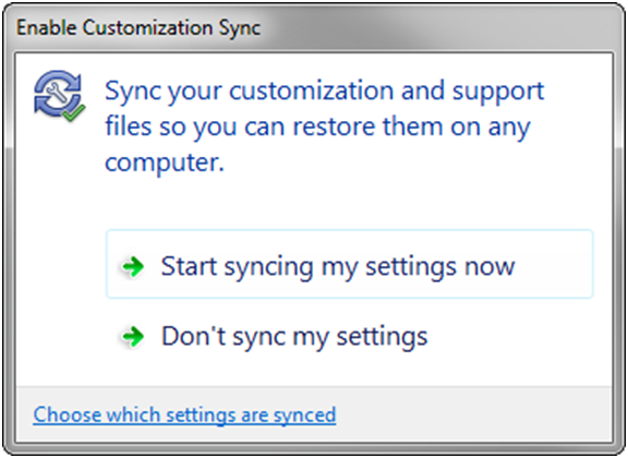 Enable Customization Sync