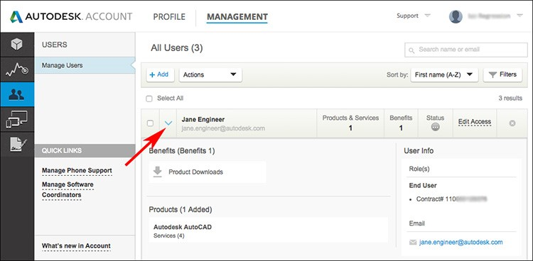 Autodesk Account Profile Management 2