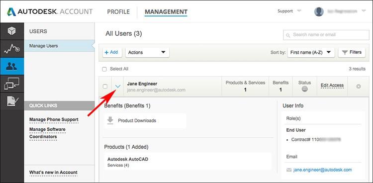 Autodesk Account Profile Management 2